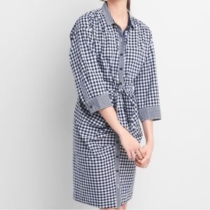 Sarah Jessica Parker Gap gingham shirt dress Navy